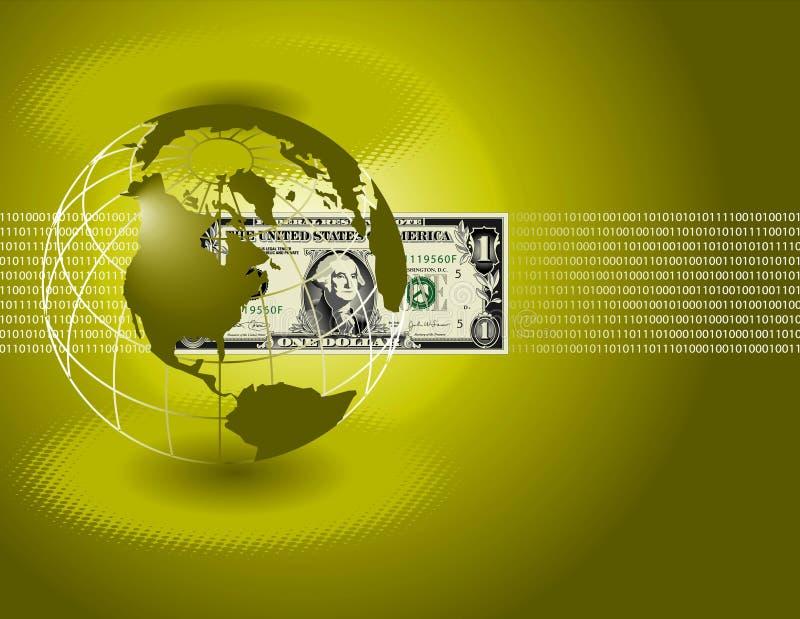 Mundo do dólar ilustração do vetor