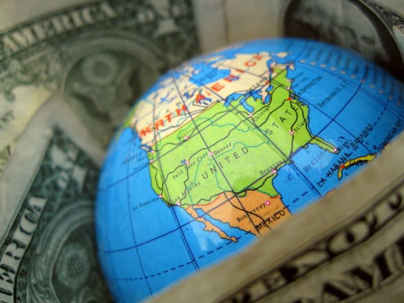 Mundo do dólar foto de stock