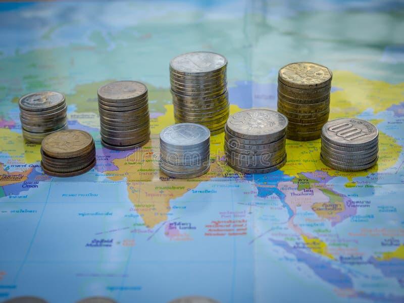 Mundo do dinheiro foto de stock