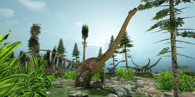 Mundo do Diplodocus ilustração royalty free