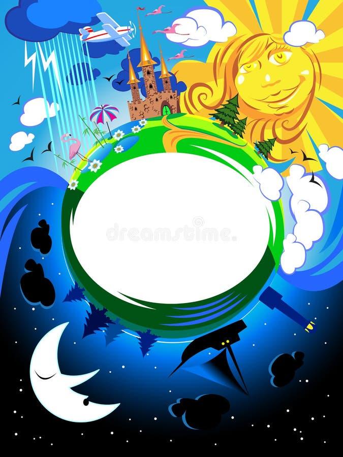 Mundo do Fairy-tale ilustração stock