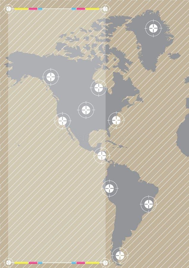 Mundo do fundo ilustração royalty free