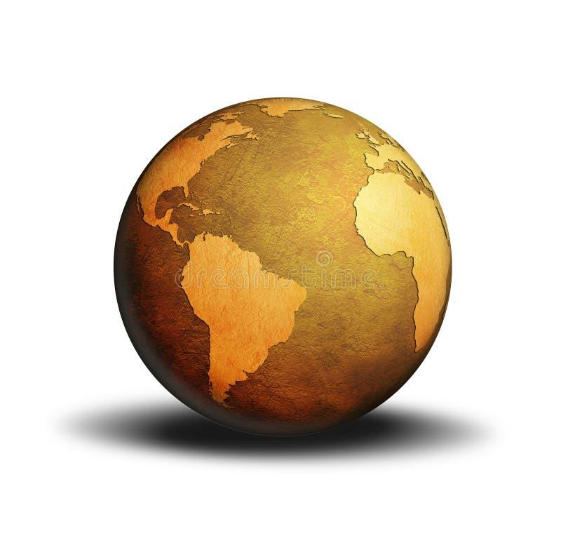 Mundo do globo ilustração do vetor
