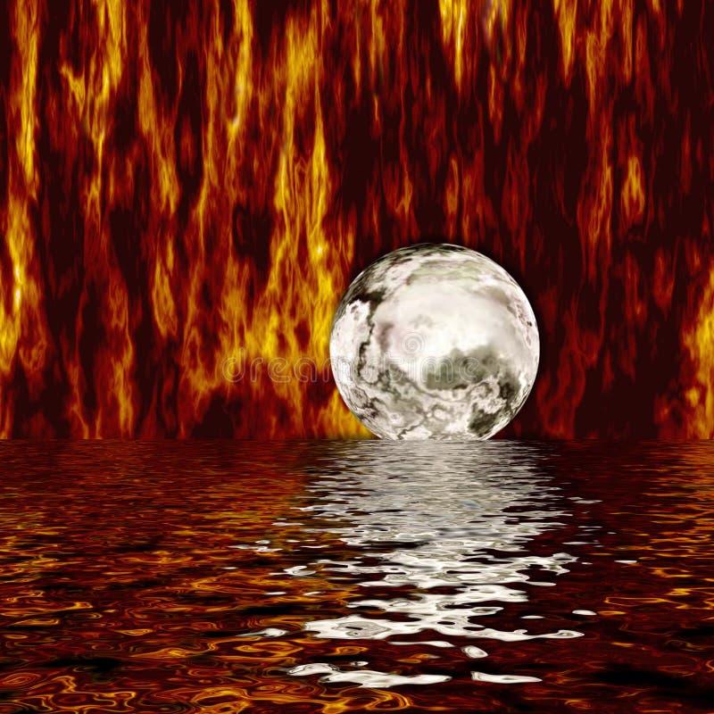Mundo do incêndio ilustração stock