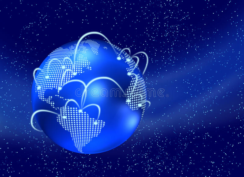 Mundo do Internet ilustração royalty free