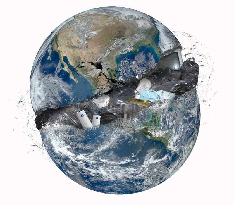 Mundo do lixo foto de stock royalty free