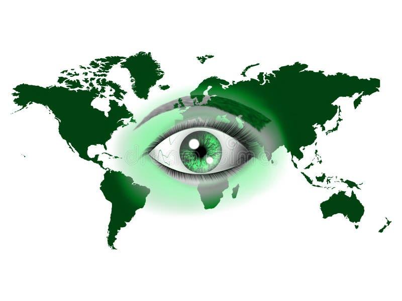 Mundo do olho ilustração do vetor