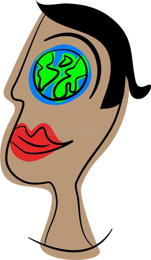 Mundo do olho ilustração royalty free