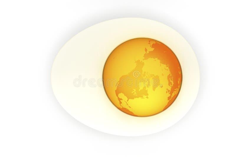 Mundo do ovo ilustração stock