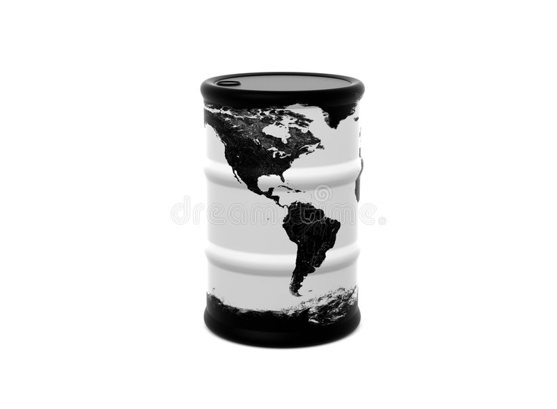 Mundo do tambor de petróleo ilustração do vetor