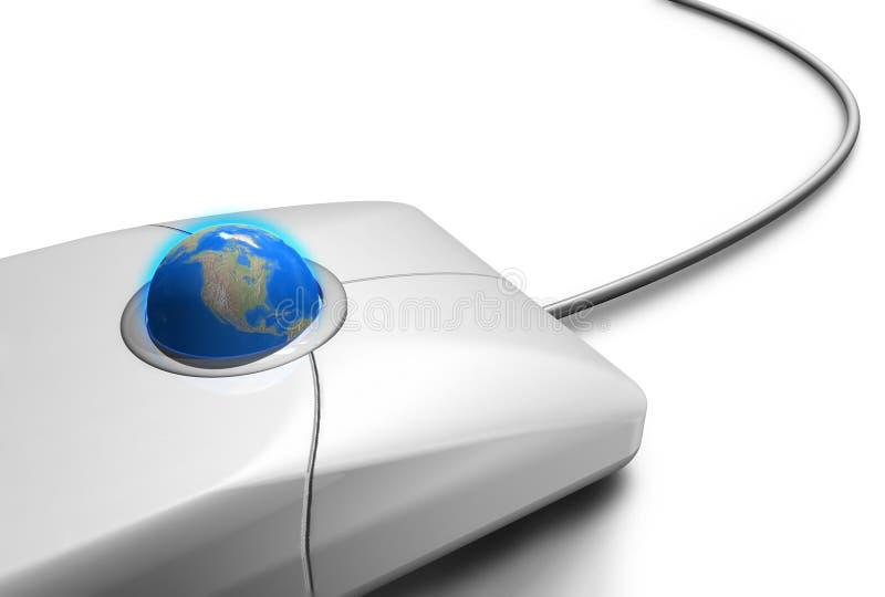 Mundo do toque do rato um foto de stock royalty free