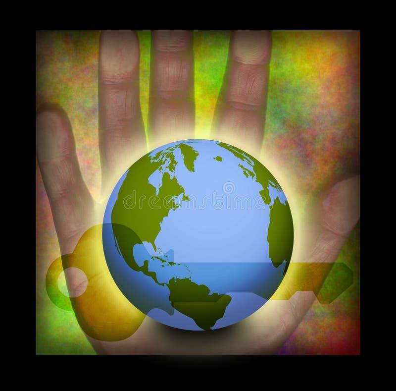 Mundo dominante a disposición libre illustration