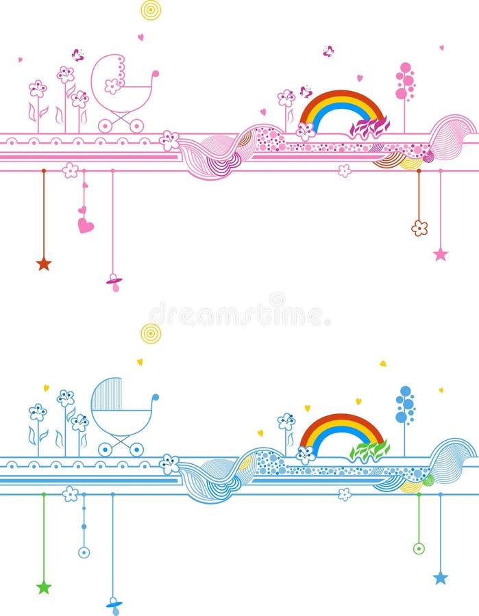 Mundo dos bebês ilustração royalty free