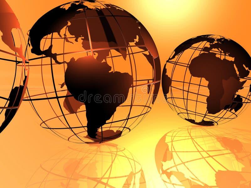 Mundo e céu ilustração stock