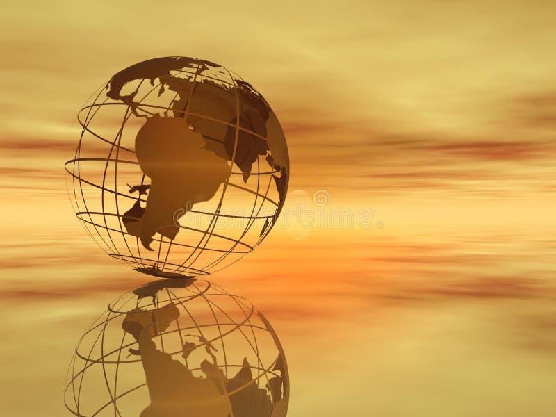 Mundo e céu ilustração do vetor