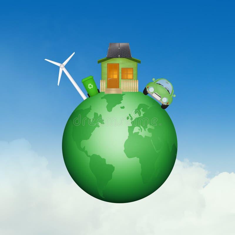 mundo Eco-sostenible ilustración del vector