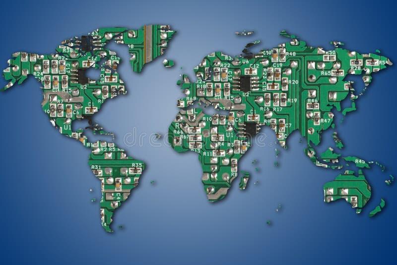 Mundo electrónico stock de ilustración