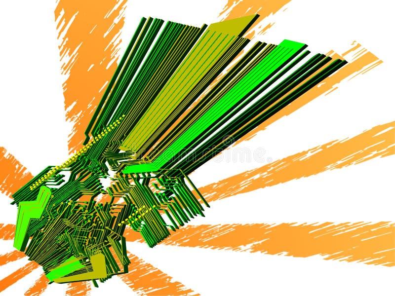 Mundo electrónico - vector 3d libre illustration
