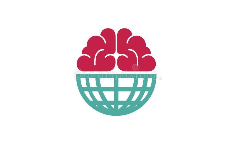 Mundo elegante Logo Symbol Design Illustration libre illustration