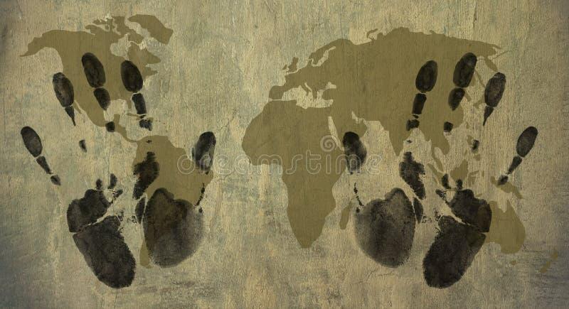 Mundo em minhas mãos ilustração royalty free