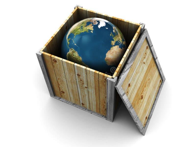 Mundo en el rectángulo libre illustration