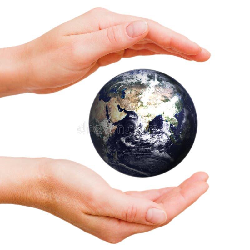Mundo en mis manos foto de archivo libre de regalías