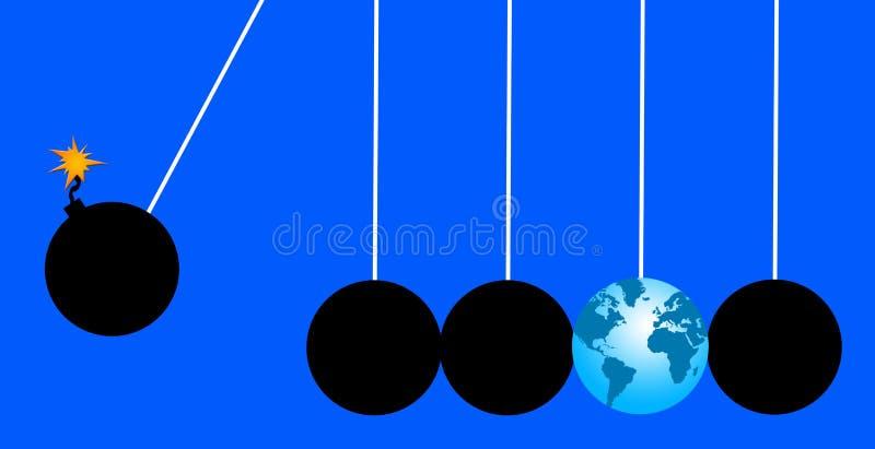 Mundo en peligro stock de ilustración