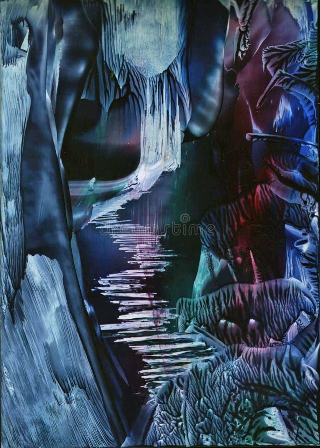 Mundo extranjero, bosque místico libre illustration