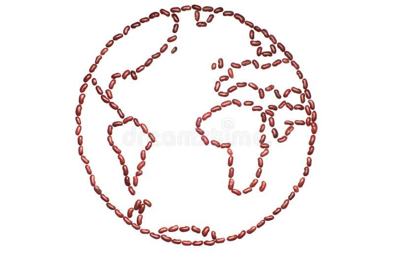 Mundo feito de ingredientes naturais imagens de stock