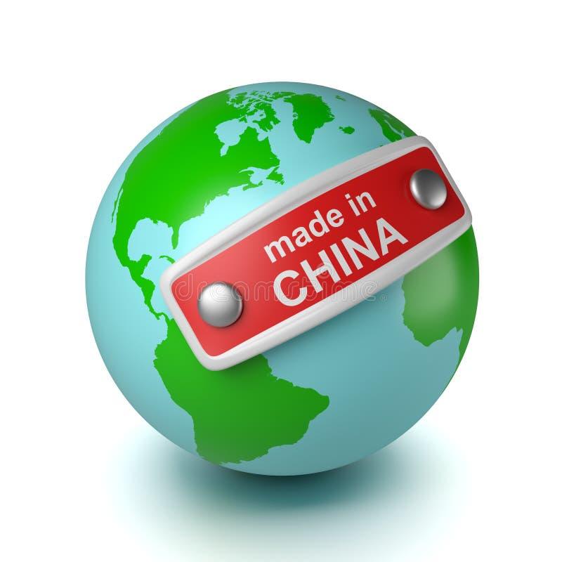 Mundo feito em China ilustração royalty free