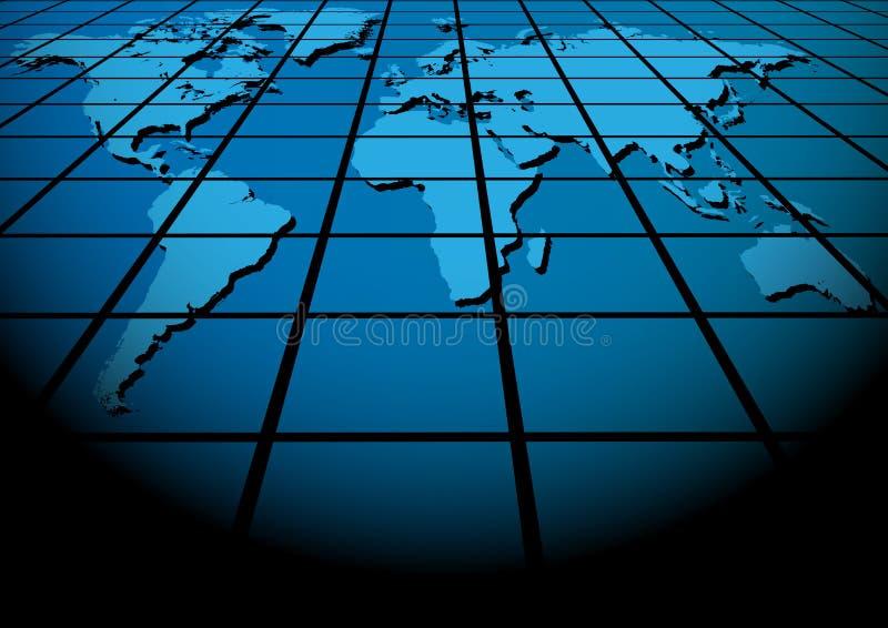 Mundo - fundo abstrato ilustração stock
