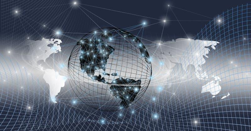 Mundo global conectado fotografia de stock royalty free
