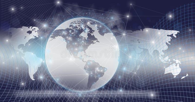 Mundo global conectado fotos de stock