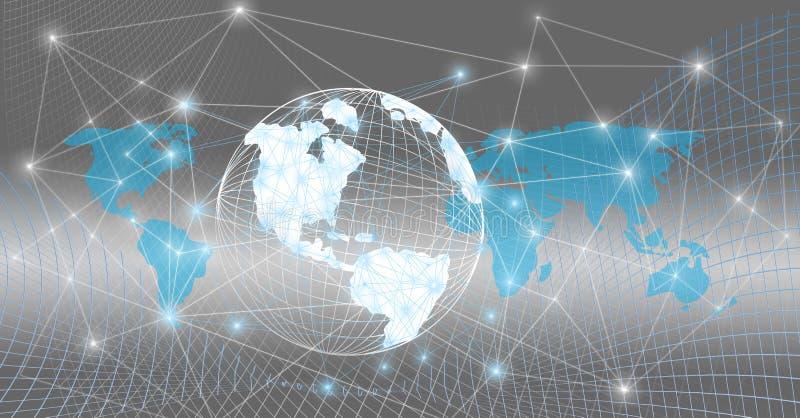 Mundo global conectado foto de stock royalty free