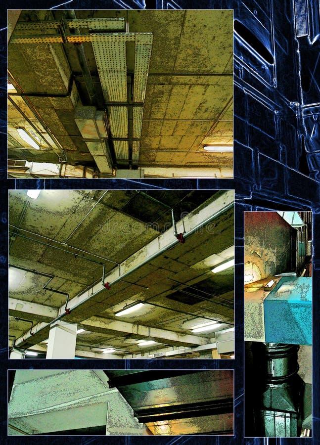 Mundo industrial da oxidação, coleção da foto fotos de stock royalty free