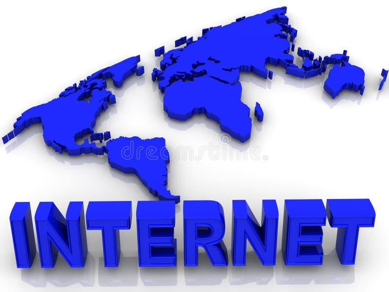 Mundo. Internet. ilustração stock