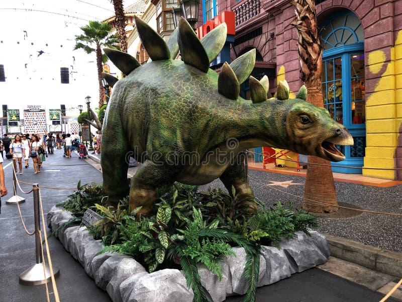 Mundo jurássico do Stegosaurus fotografia de stock royalty free