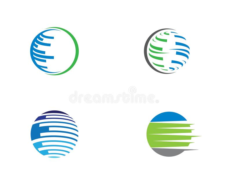Mundo Logo Template do fio ilustração royalty free