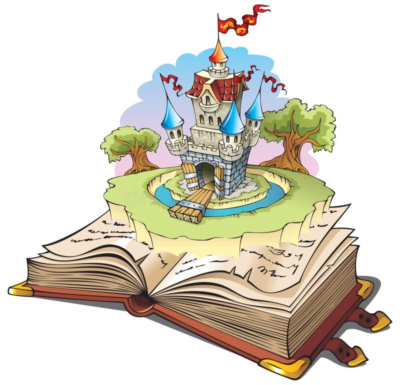 Mundo mágico dos contos de fadas ilustração royalty free