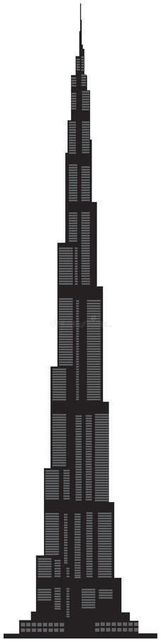 Mundo más alto - Burj Dubai stock de ilustración