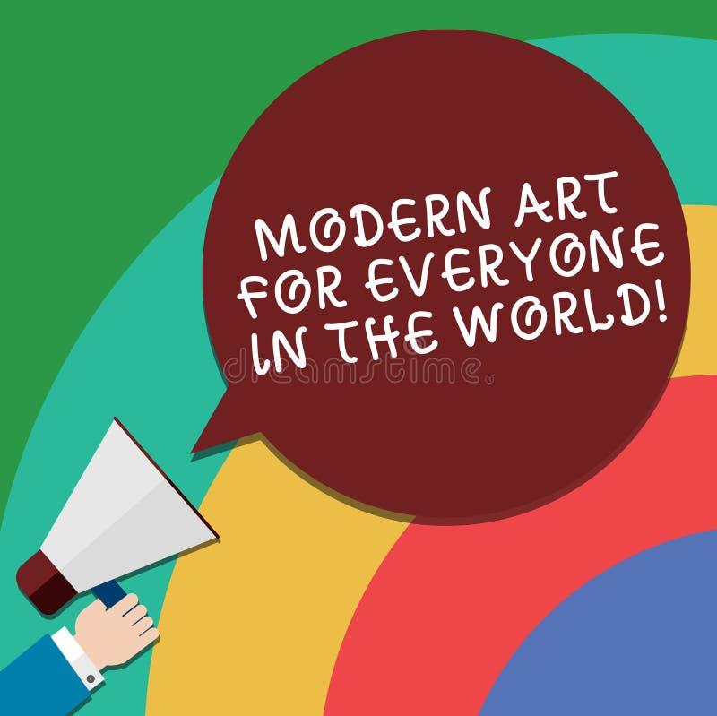 Mundo moderno de Art For Everyone In The del texto de la escritura El significado del concepto separó creatividad al otro análisi libre illustration