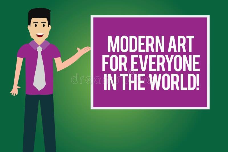 Mundo moderno de Art For Everyone In The del texto de la escritura El significado del concepto separó creatividad al otro hombre  stock de ilustración