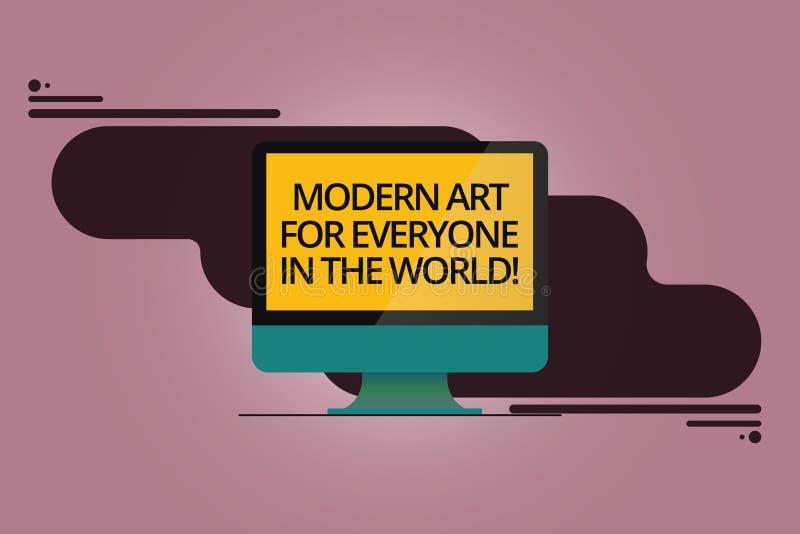Mundo moderno de Art For Everyone In The del texto de la escritura El significado del concepto separó creatividad a la otra demos stock de ilustración