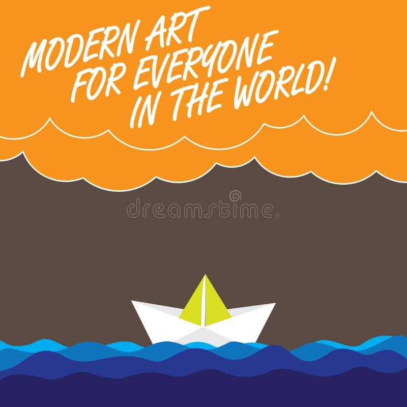 Mundo moderno de Art For Everyone In The del texto de la escritura El significado del concepto separó creatividad a la otra onda  stock de ilustración