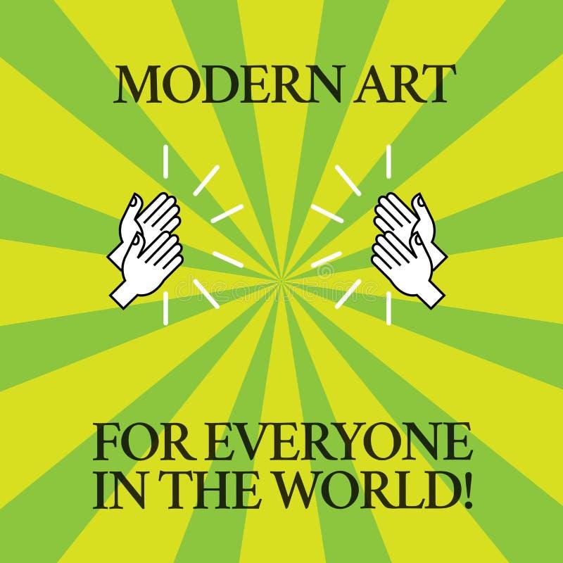 Mundo moderno de Art For Everyone In The del texto de la escritura de la palabra Concepto del negocio para la creatividad separad ilustración del vector