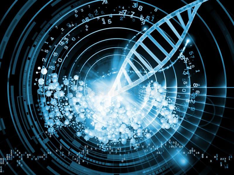 Mundo molecular ilustração do vetor