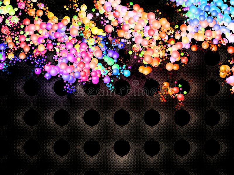 Mundo molecular ilustración del vector