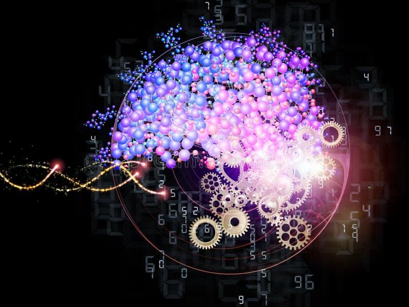 Mundo molecular stock de ilustración