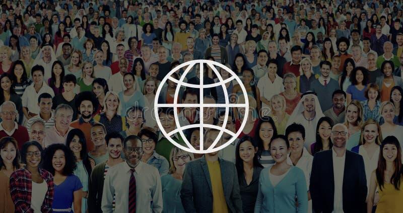 Mundo mundial internacional de la comunidad global conectado libre illustration