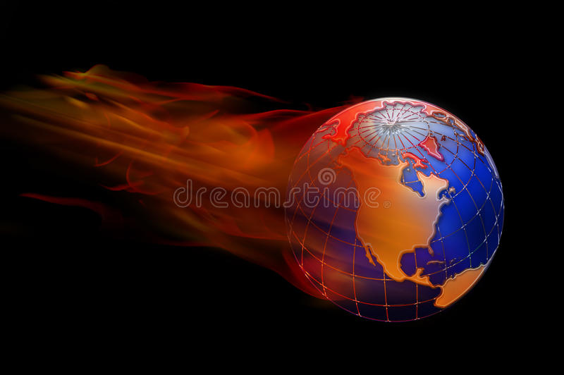 Mundo no incêndio. foto de stock royalty free